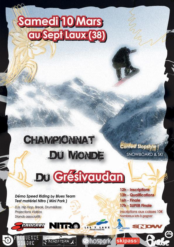 Championnats du Monde du Grésivaudan - Samedi 10 mars 2007 Contest2007